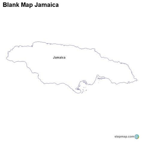 printable map of jamaica with parishes outlined map of jamaica images frompo 1