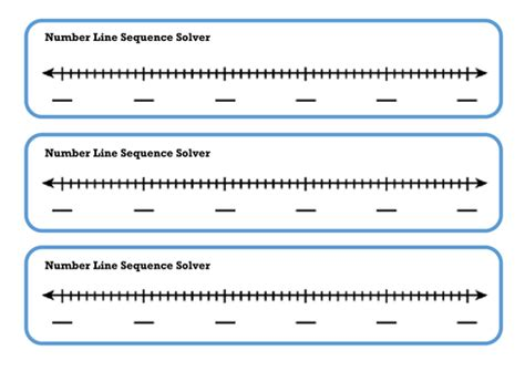 number pattern calculator online sequences blank number line visual learning aid by miss