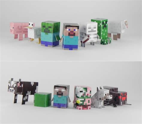 Minecraft Paper Crafts - minecraft minis paper crafts gadgetsin