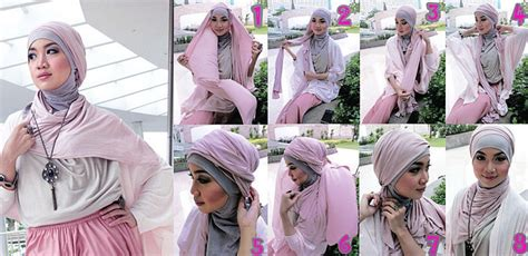 kreasi jilbab turban segi empat  pesta ala dian pelangi