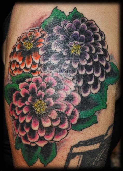 zinnia tattoo designs 10 best images about on pink flower