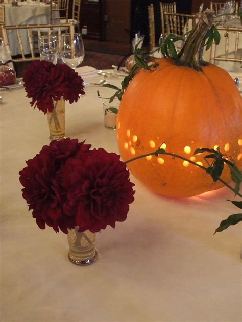 pumpkin bouquet centerpieces