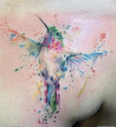 watercolour hummingbird tattoo tattoos pinterest