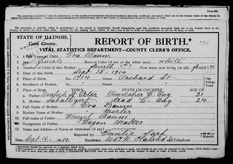 Search Birth Records Free Trost Mooney Genealogy Illinois Cook County Birth Certificates 1878 1922 Database