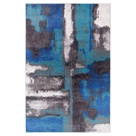 blue area rugs 5x8 city furniture unison blue 5x8 area rug