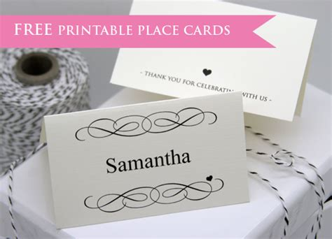 downloadable place card templates free free printable place cards flamingo