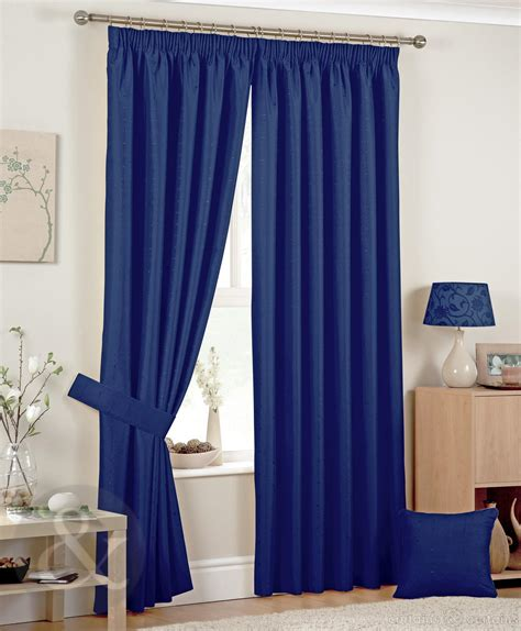 blue bedroom curtains luxury jacquard pencil pleat navy blue curtains