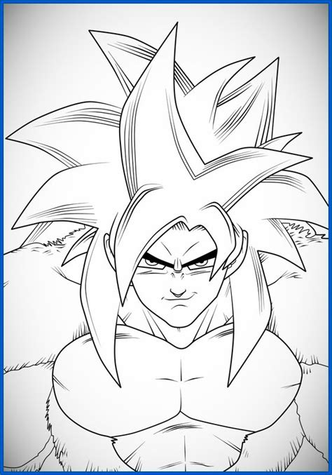 imagenes para colorear goku fase 4 dibujos de dragon ball z para colorear broly archivos
