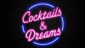 bar sign light cocktails dreams sign liberty