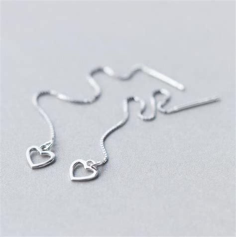 S925 Sterling Silver Drop Earring 2016 925 sterling silver thread through earrings s925