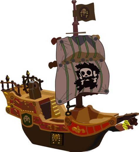 pirate ship clip pirate ship clip at clker vector clip
