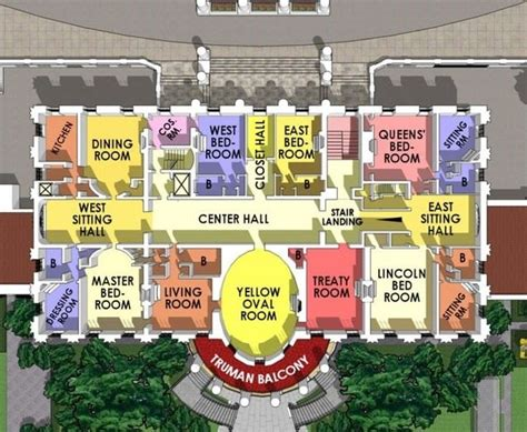 white house replica floor plans in the u s does the president s bedroom change when