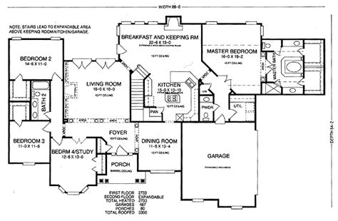 house plans with future expansion future expansion 5417lk 1st floor master suite cad
