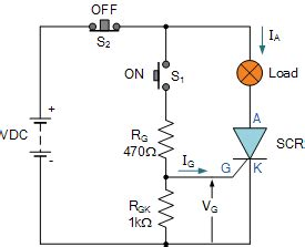 scr firing circuit diagram thyristor circuit and thyristor switching circuits