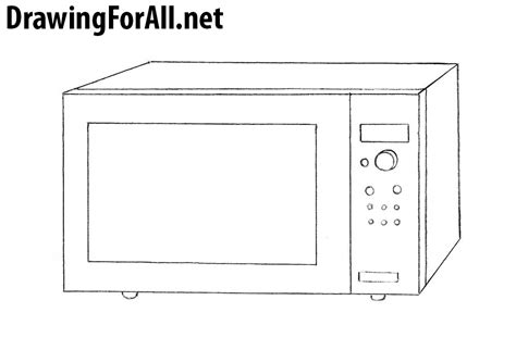 how to microwave a how to draw a microwave drawingforall net