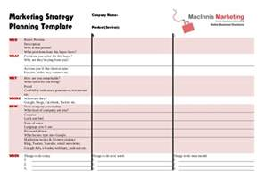 business marketing strategy template marketing strategy planning template