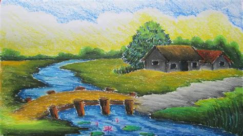 painting with landscape painting with the help of pastels pastel