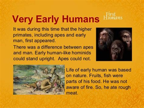first man the life 0743259637 early humans