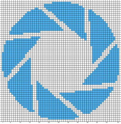 apupa pattern in library science ravelry aperture science logo chart portal pattern by