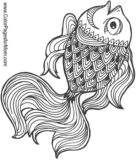 advanced fish coloring pages animals 105 advanced coloring pages