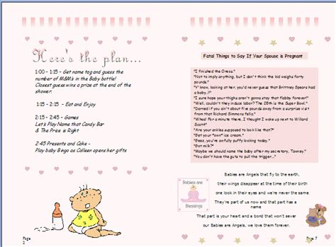 Baby Shower Order Of Events by Planning A Baby Shower Baby Shower Favor Ideas