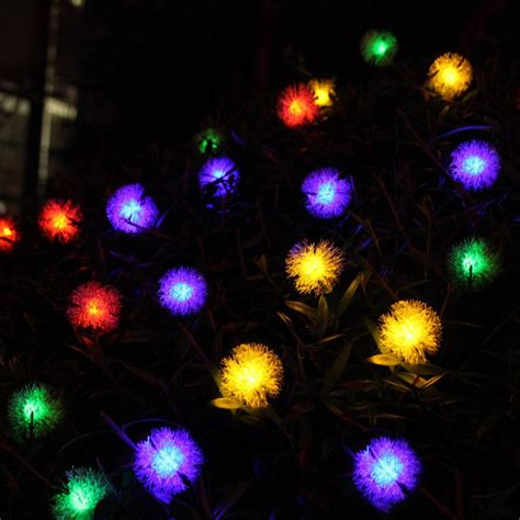 ball color changing l post light led christmas lighting