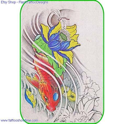 flower tattoo etsy 117 best koi images on pinterest fish tattoos japan