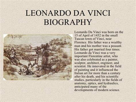 leonardo da vinci brief biography leonardo da vinci
