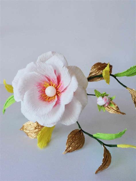 crepe paper flower pattern italian crepe paper flower flowers pinterest flower