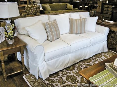 slipcovered loveseat sale country cottage sofa rustic house sofas help the living