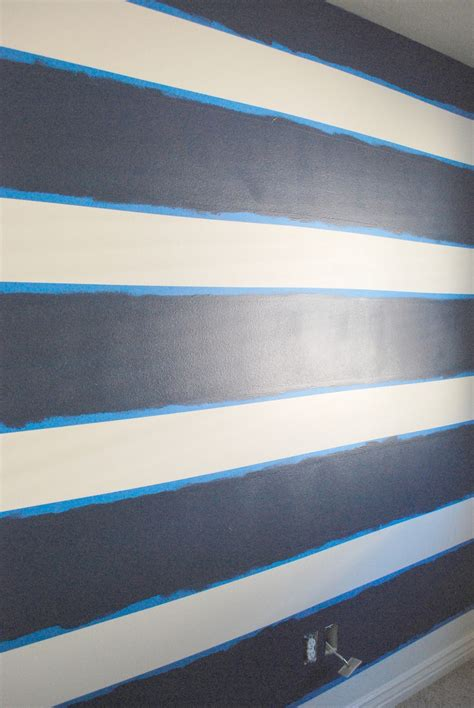 blue striped walls the shabby nest scotch blue painting party a striped