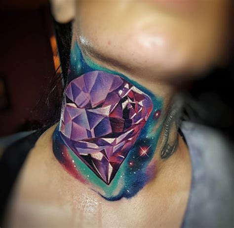 jewel tattoo designs neck best design ideas
