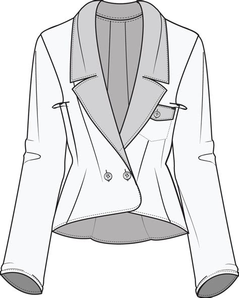 flat fashion sketch jacket illustrator fashion templates