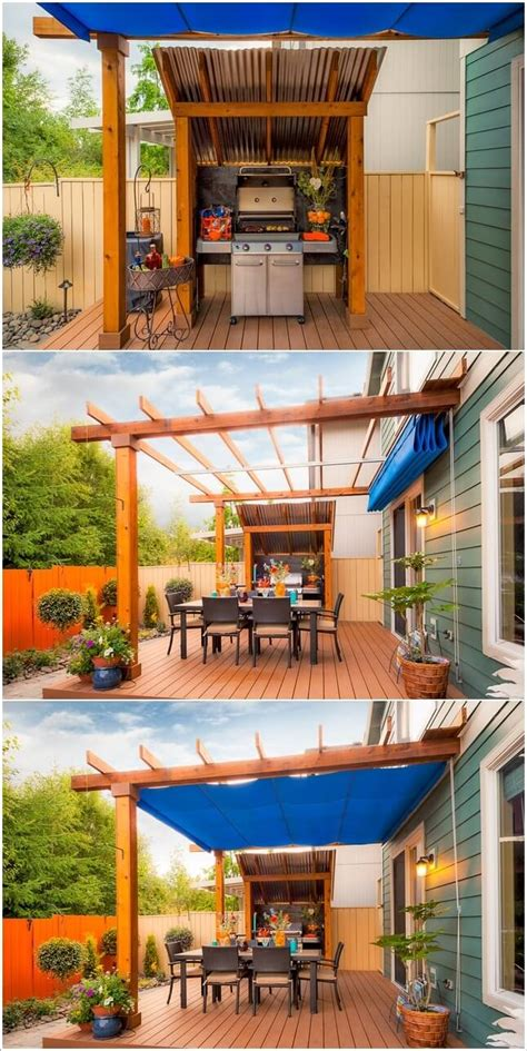 15 Cool Ways To Design A Barbecue Grill Area Grill Area Backyard Grill Area
