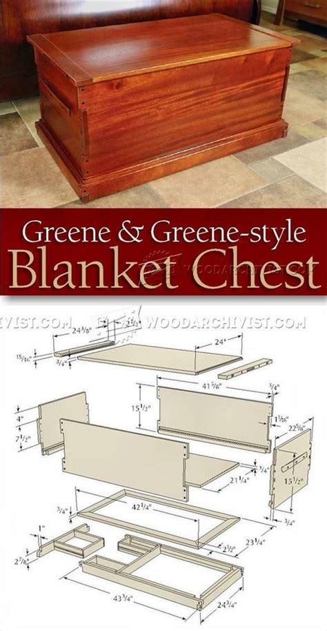woodworking business ideas blanket chest plan furniture plans and projects http