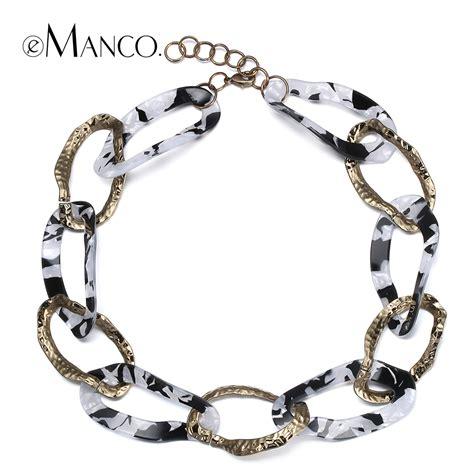 acrylic for jewelry aliexpress buy white acrylic necklace zinc alloy