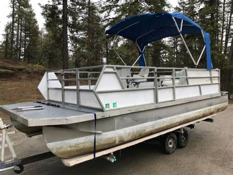 pontoon boats spokane jc manufacturing pontoon boat 6800 diamond lake