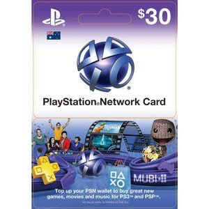 Playstation Network Gift Card - get 2 x 30 playstation network cards for 50 at dick smith save 16 6 gift cards