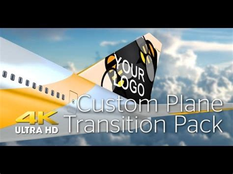 Plane Transition Pack 4k After Effects Template Youtube After Effects Airplane Template