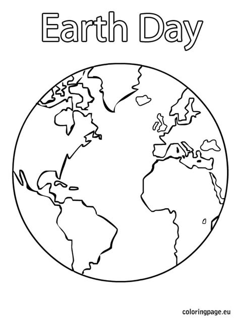 earth day coloring page holiday pinterest earth