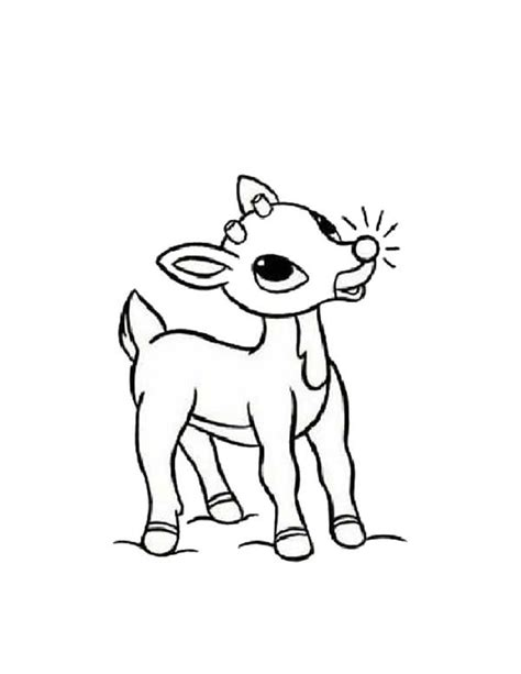 free coloring page of rudolph the red nosed reindeer rudolph the red nosed reindeer clipart black and white