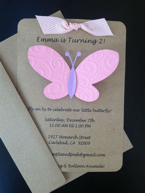Longorias Tacky Wedding Invitations by Butterfly Invitations Custom Made And Handmade By