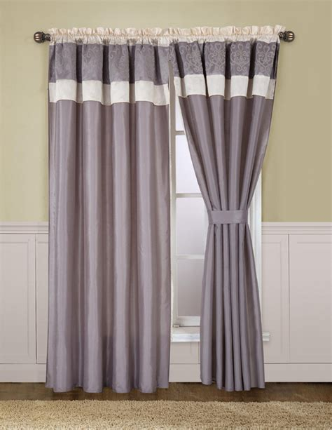 Gray And Beige Curtains Beige And Grey Curtain Set