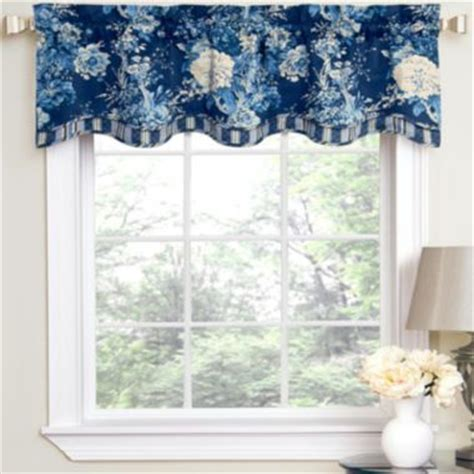 jcpenney waverly curtains waverly 174 ballad bouquet rod pocket tailored valance
