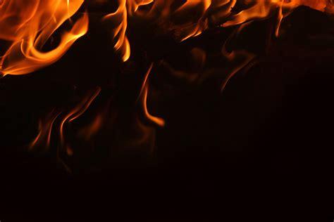 Flames Black Hitam fotos gratis ligero noche textura aislado naranja