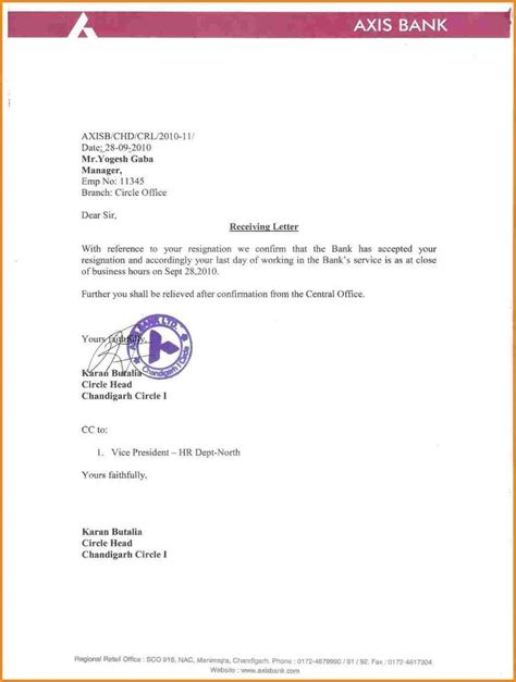 letter format from bank best 25 resignation letter format ideas only on