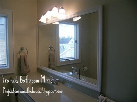 frame bathroom mirror diy projects around the house diy framed bathroom mirror