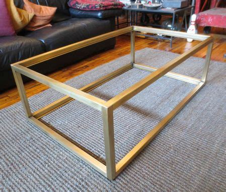 metal coffee table base custom metal modern coffee table base by andrew stansell