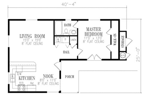 one bedroom floor plans with garage mediterranean style house plan 1 beds 1 00 baths 730 sq