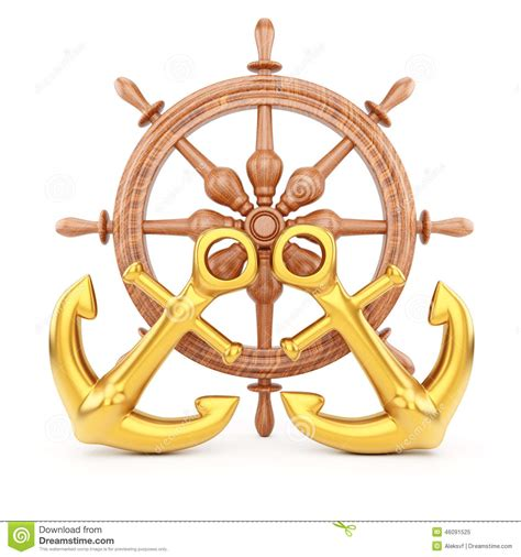helm design and planning helm and anchors stock illustration image 46091525